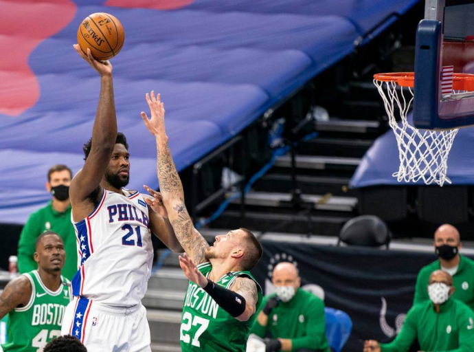 Embiid's 42 Leads Sixers Over  Celtics 117-109